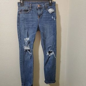 🐞Old navy distressed skinny jeans size 0🌹